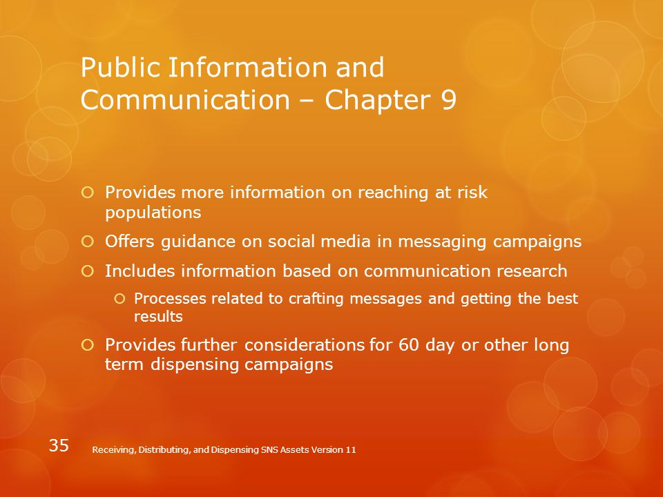 Public Information and Communication – Chapter 9