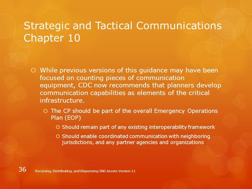Strategic and Tactical Communications Chapter 10