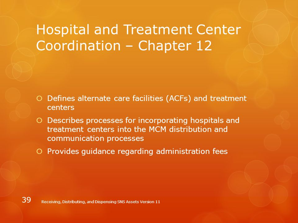 Hospital and Treatment Center Coordination – Chapter 12