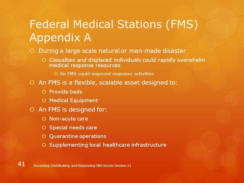 Federal Medical Stations (FMS) Appendix A