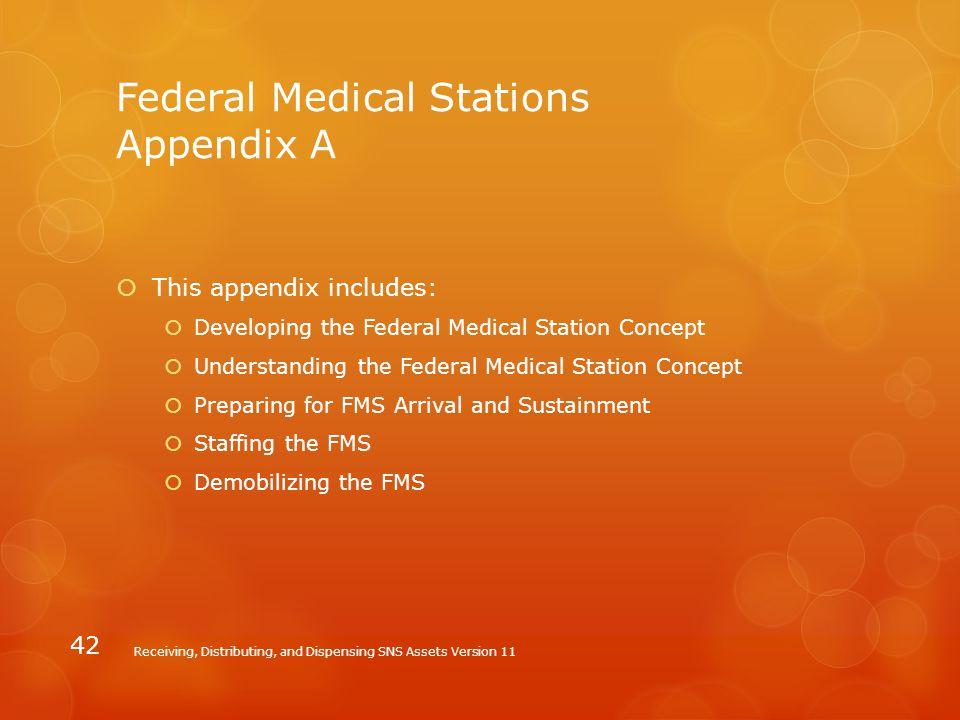 Federal Medical Stations Appendix A