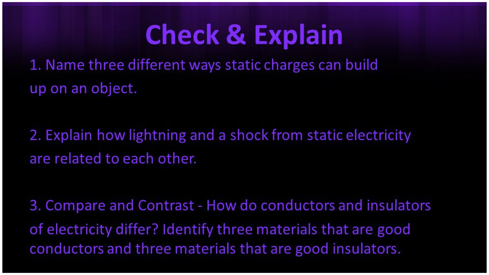 Check & Explain