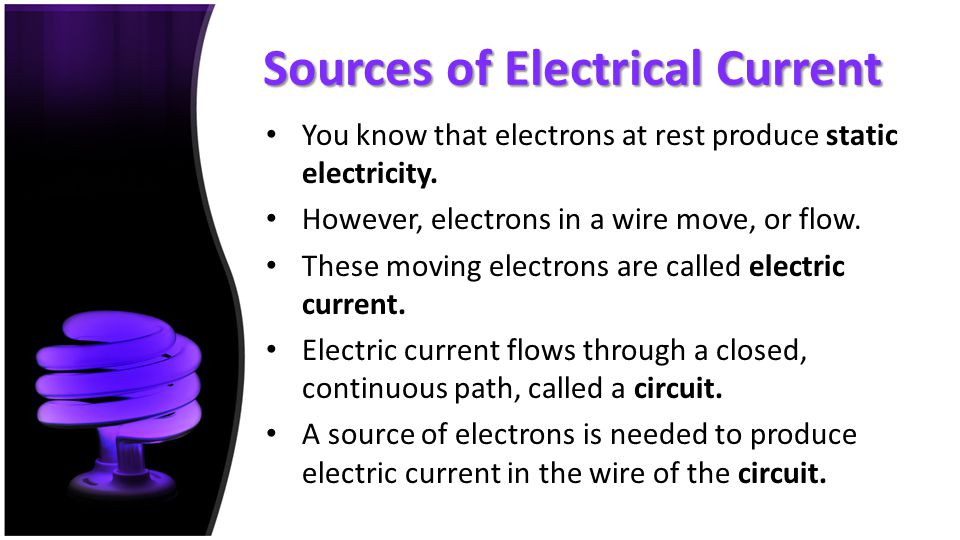 Sources of Electrical Current