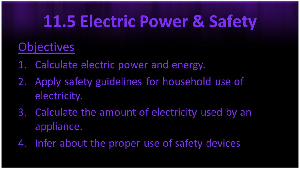 11.5 Electric Power & Safety