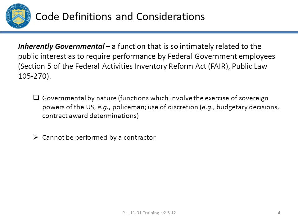 Code Definitions and Considerations