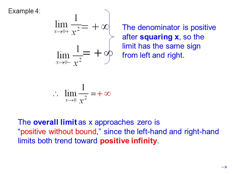The overall limit as x approaches zero is