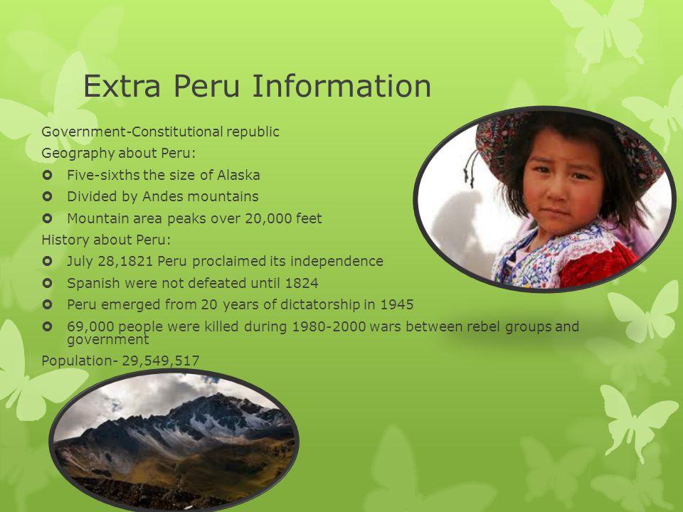 Extra Peru Information