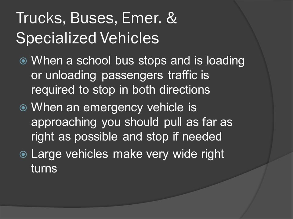 Trucks, Buses, Emer. & Specialized Vehicles