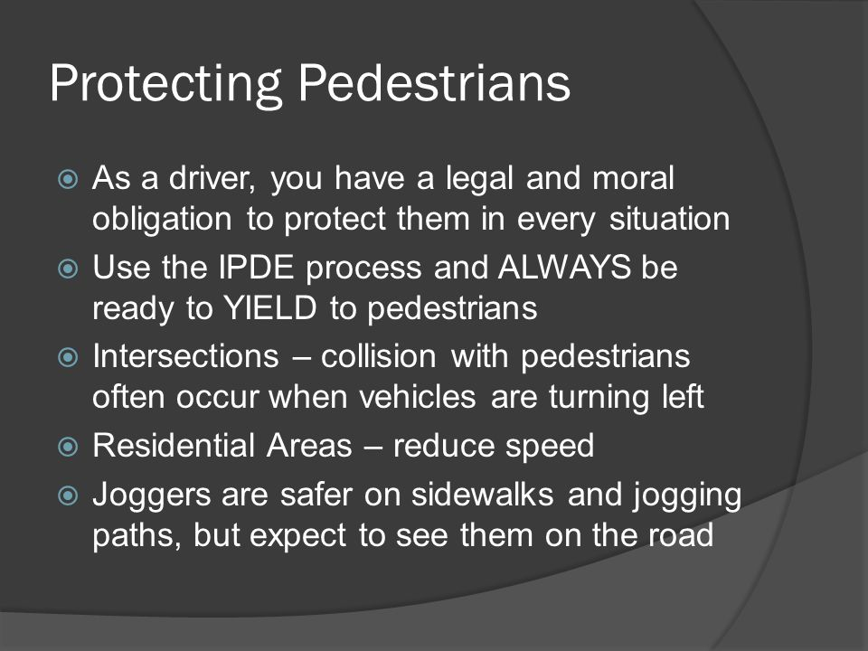 Protecting Pedestrians