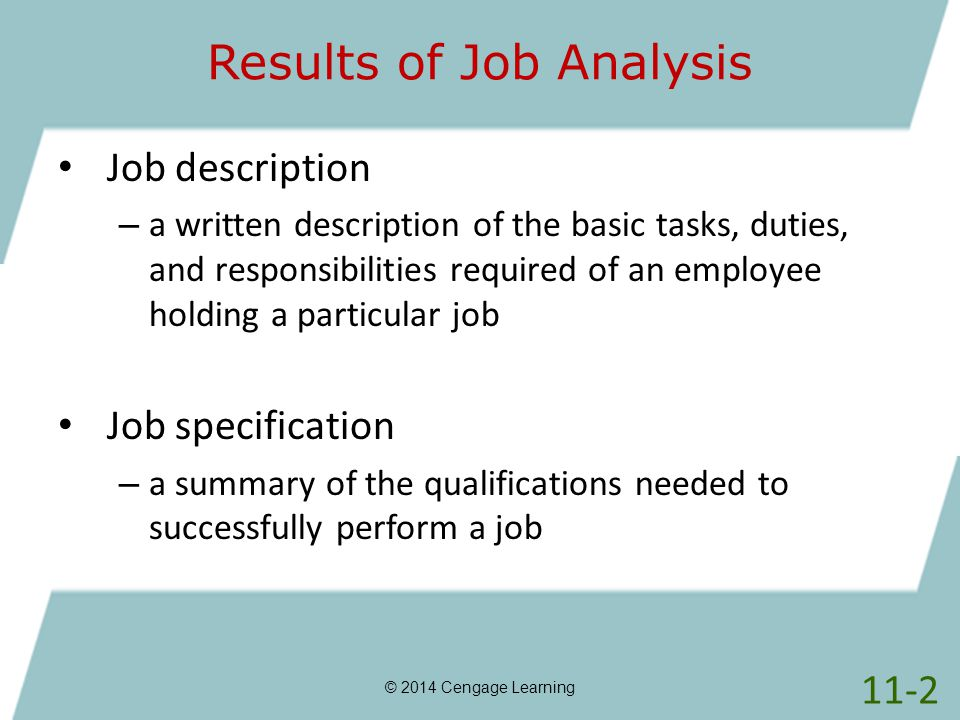 write a description of the duties