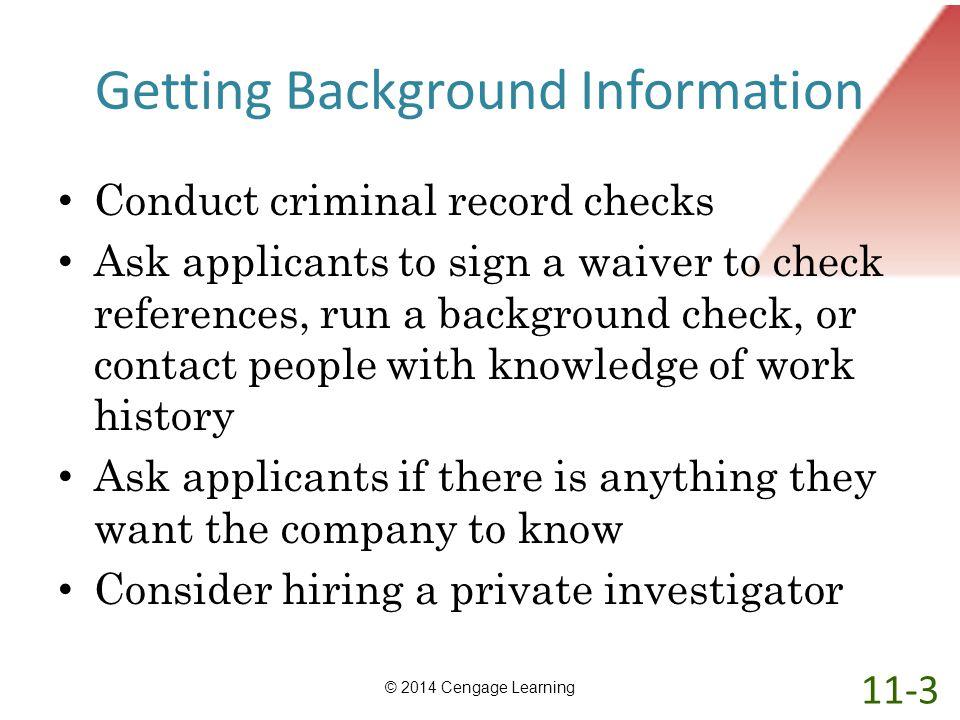Getting Background Information