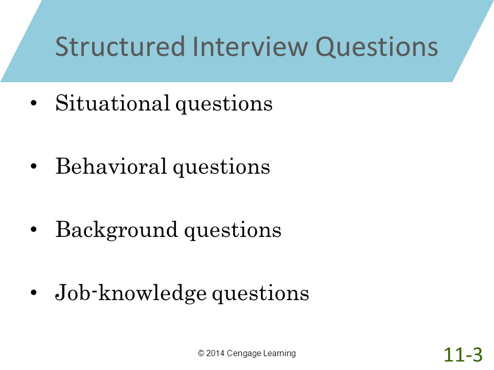 structured interview question