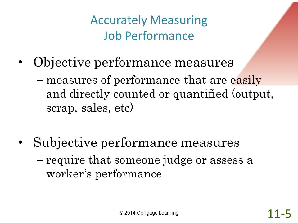 Accurately Measuring Job Performance