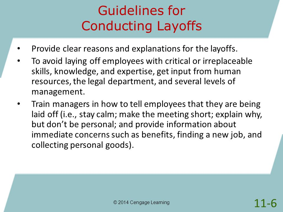 Guidelines for Conducting Layoffs