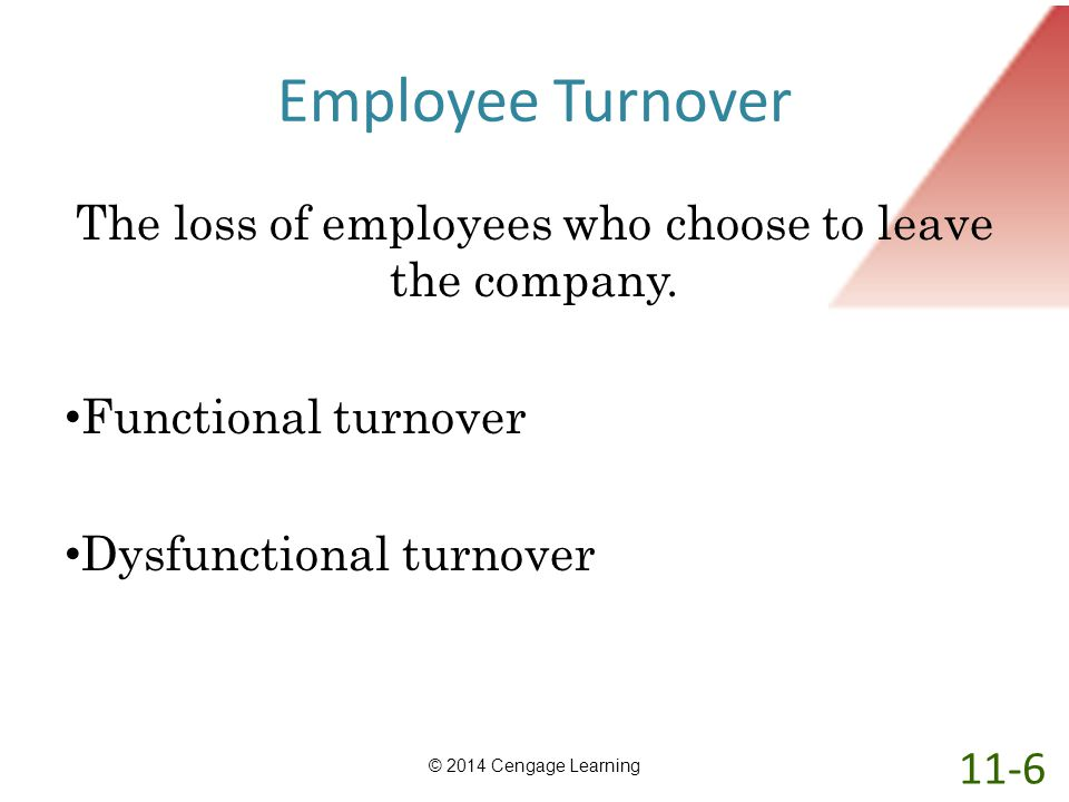 The loss of employees who choose to leave the company.