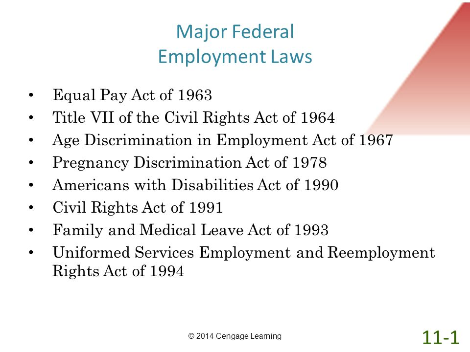 Major Federal Employment Laws