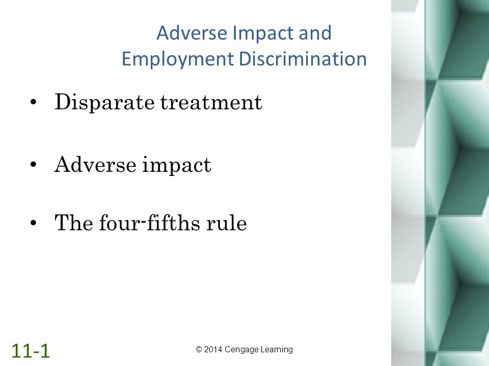 Adverse Impact and Employment Discrimination