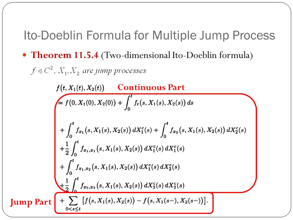 Ito-Doeblin Formula for Multiple Jump Process