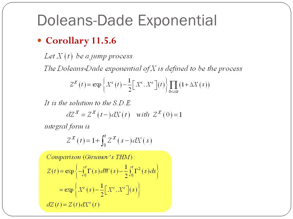 Doleans-Dade Exponential