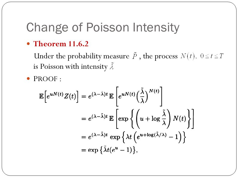 Change of Poisson Intensity