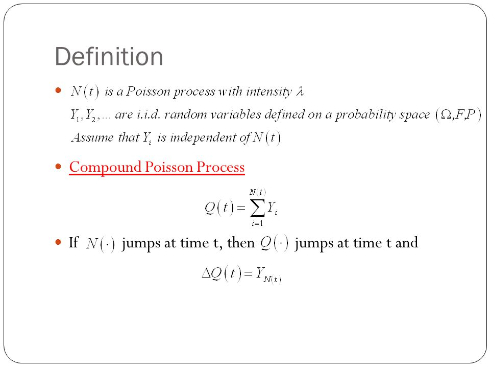 Definition Compound Poisson Process