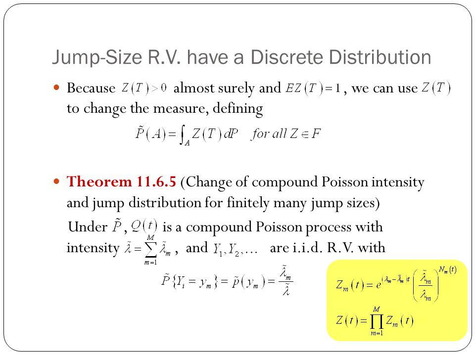 Jump-Size R.V. have a Discrete Distribution