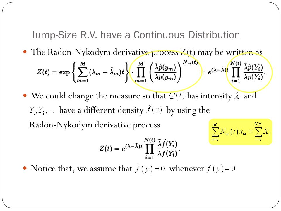 Jump-Size R.V. have a Continuous Distribution