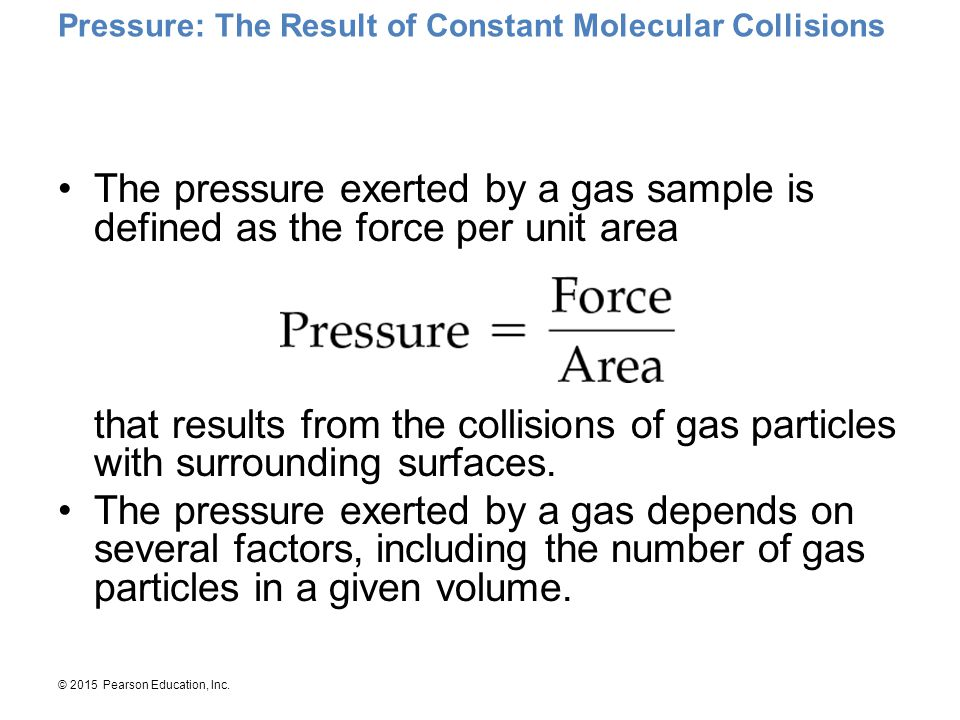 Pressure: The Result of Constant Molecular Collisions