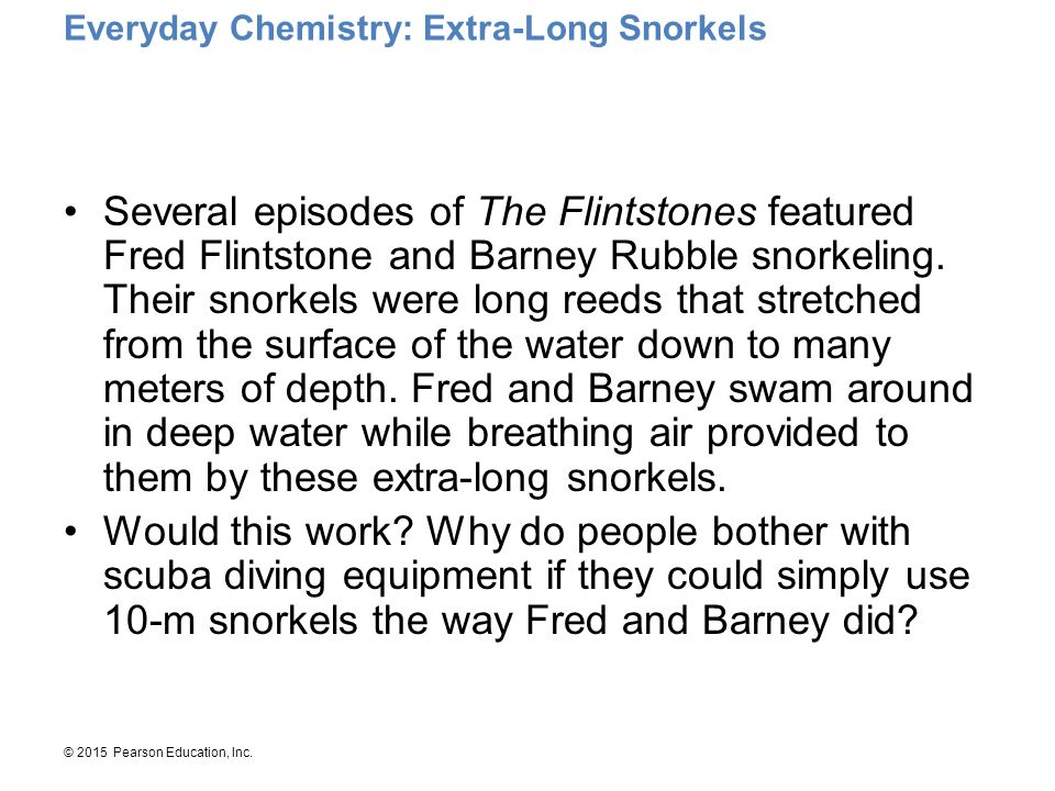 Everyday Chemistry: Extra-Long Snorkels