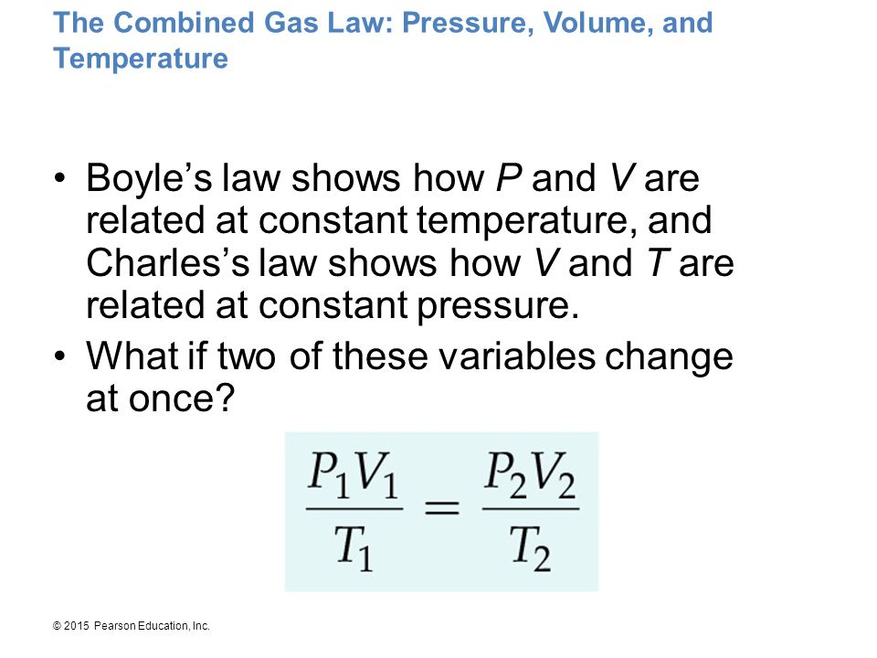The Combined Gas Law: Pressure, Volume, and Temperature