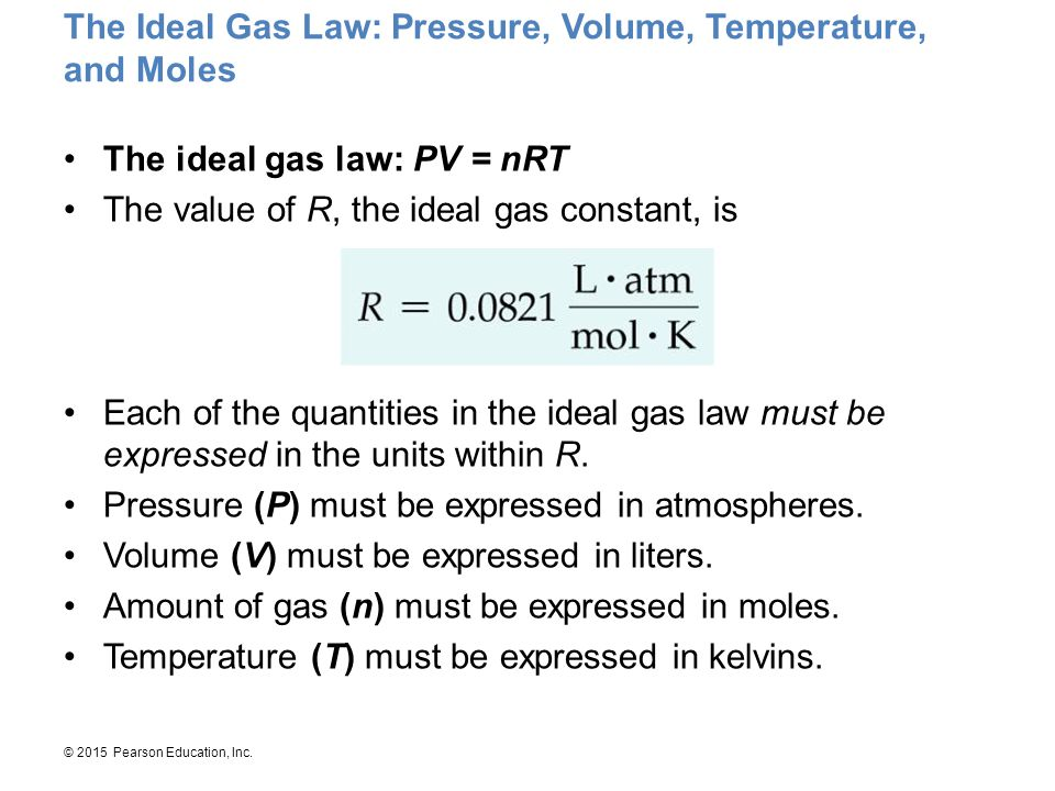 The Ideal Gas Law: Pressure, Volume, Temperature, and Moles