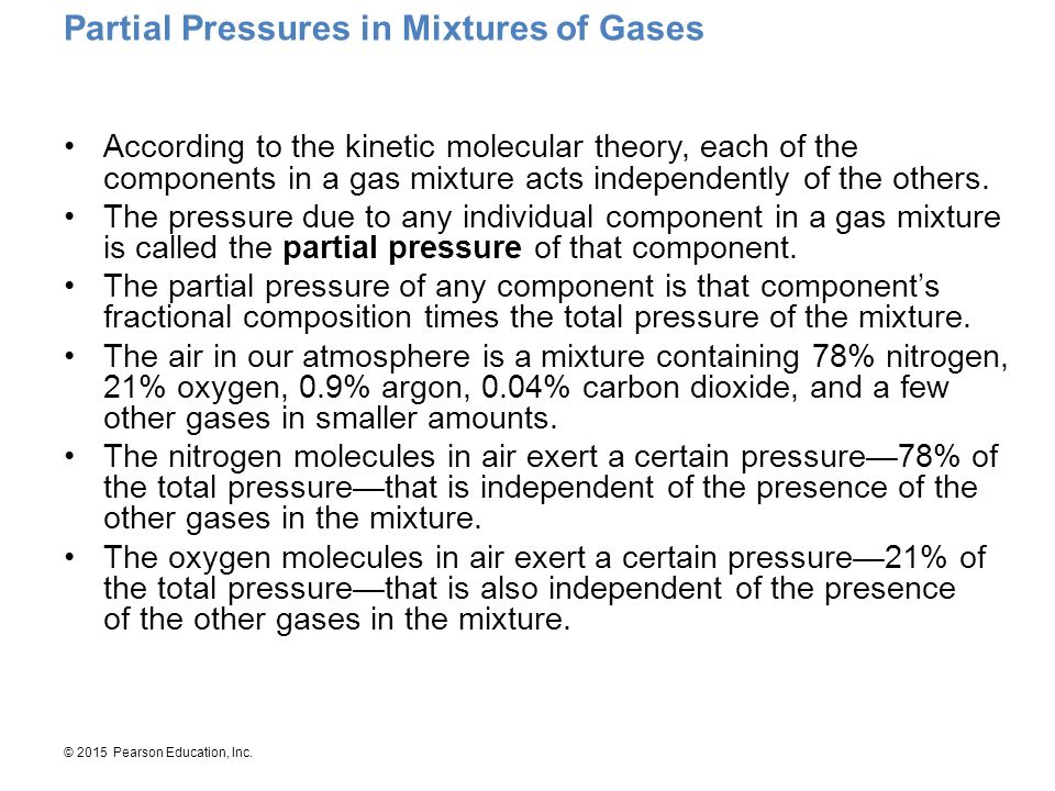 Partial Pressures in Mixtures of Gases