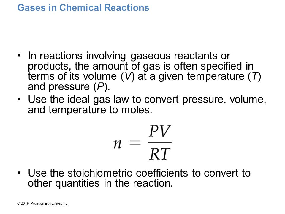 Gases in Chemical Reactions