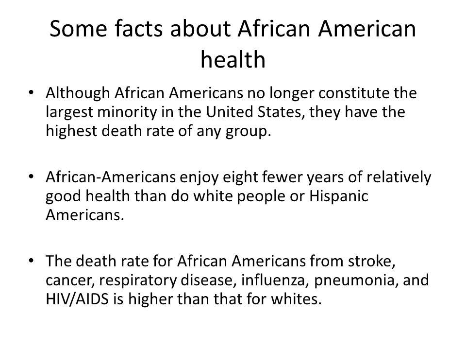 Some facts about African American health