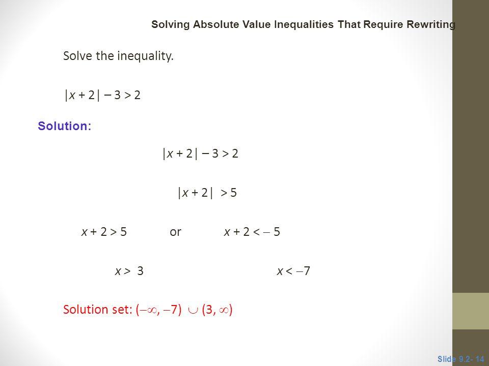 Solution set: (, 7)  (3, )