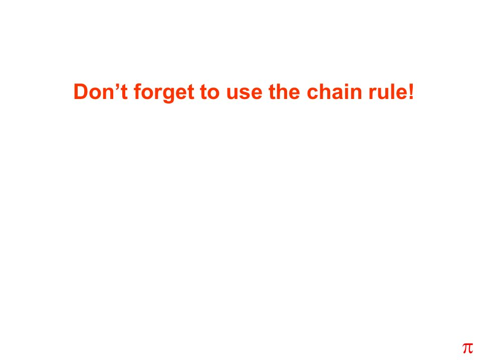 Don't forget to use the chain rule!