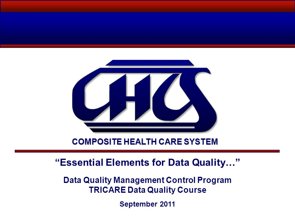 Essential Elements for Data Quality…