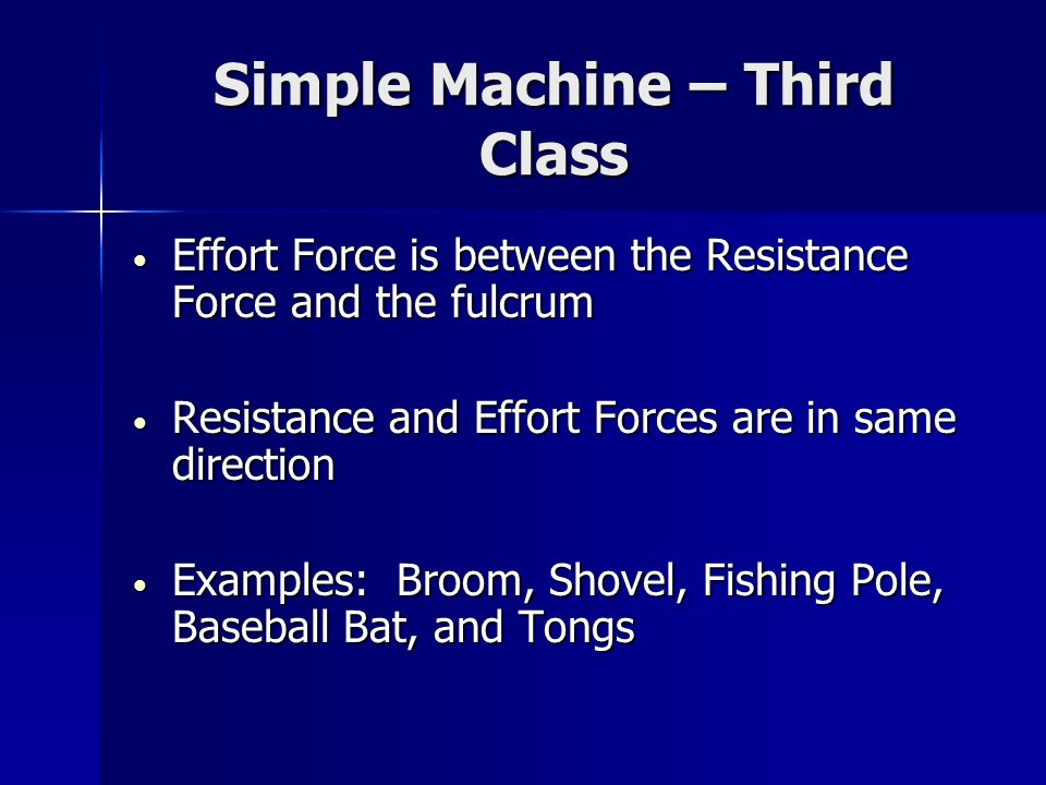 Simple Machine – Third Class