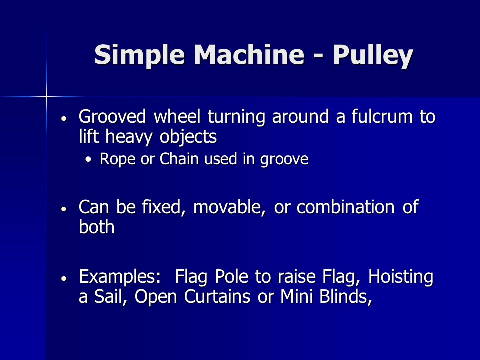 Simple Machine - Pulley