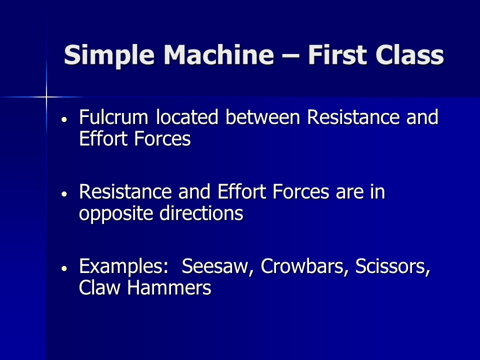 Simple Machine – First Class
