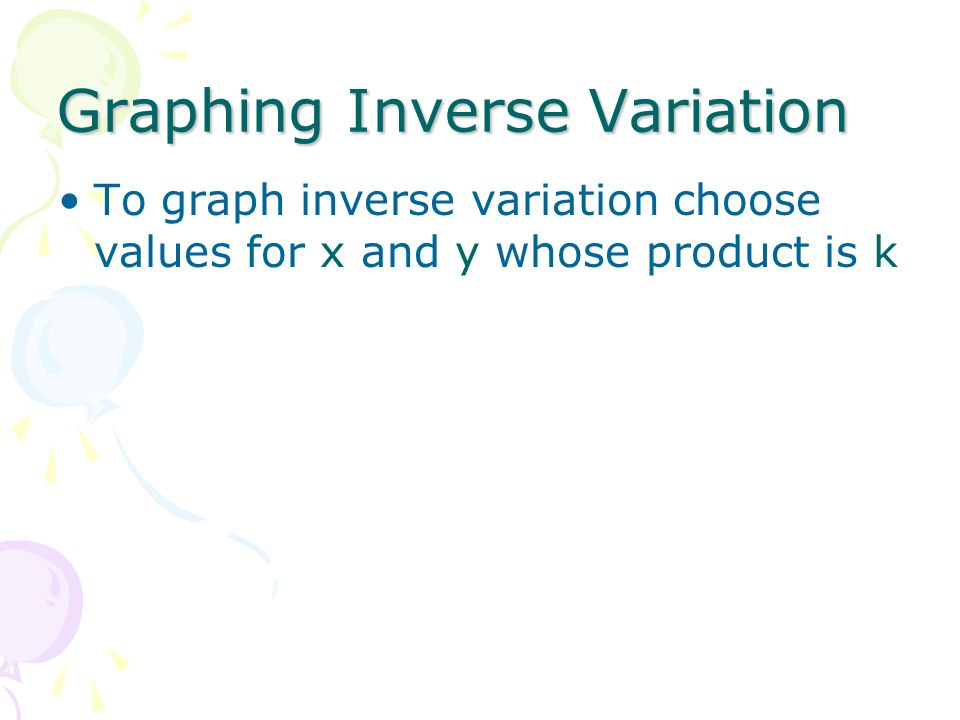 Graphing Inverse Variation
