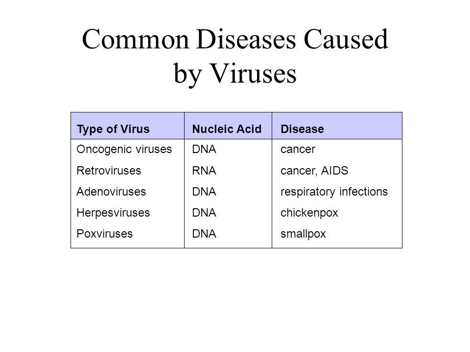 Common Diseases Caused by Viruses