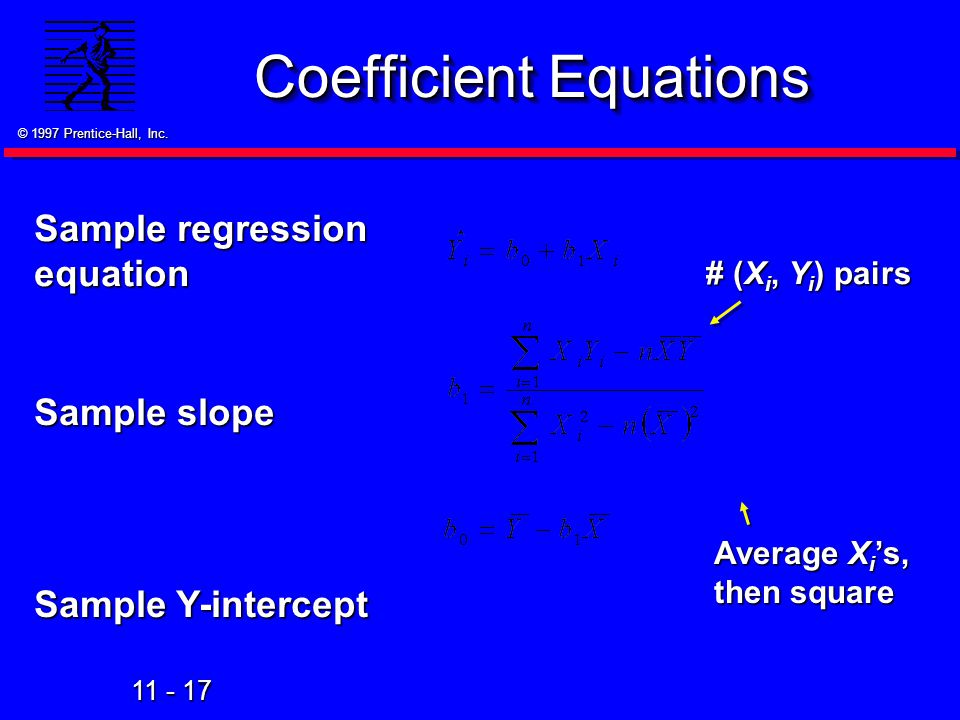 Coefficient Equations