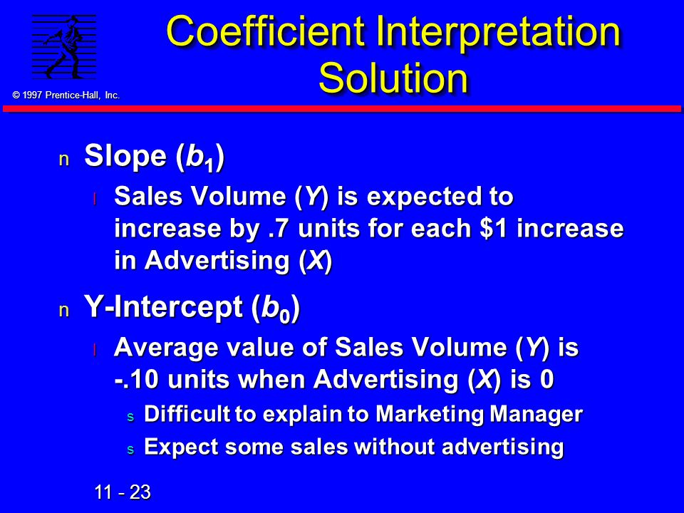 Coefficient Interpretation Solution