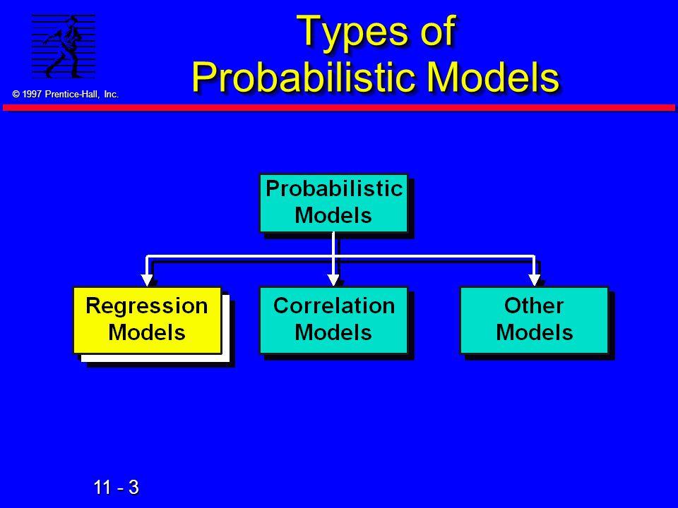 Types of Probabilistic Models