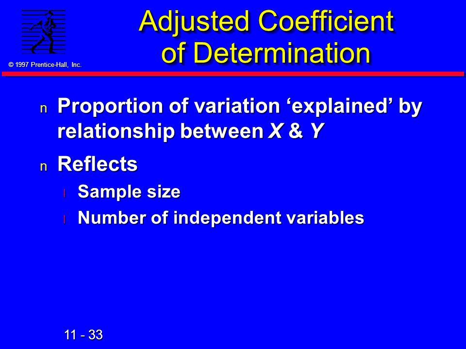 Adjusted Coefficient of Determination