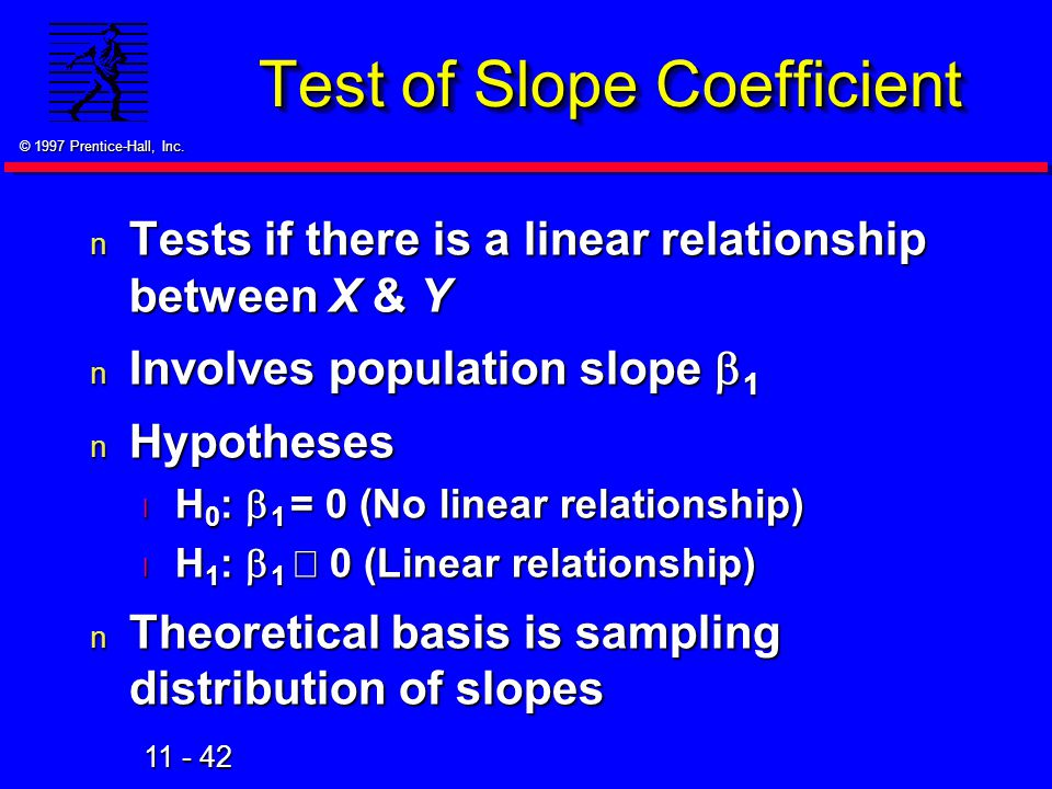 Test of Slope Coefficient