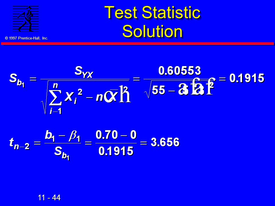 Test Statistic Solution