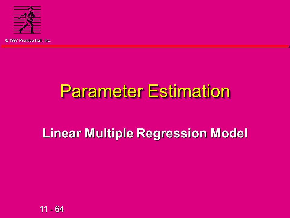 Linear Multiple Regression Model