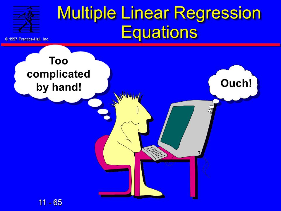 Multiple Linear Regression Equations